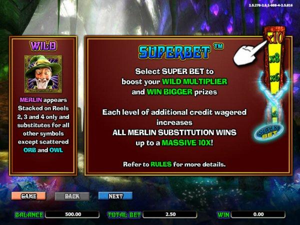 MerlinS Millions Superbet™ Slot Machine Game to Play Free in NextGen Gamings Online Casinos