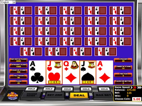 online casino games description