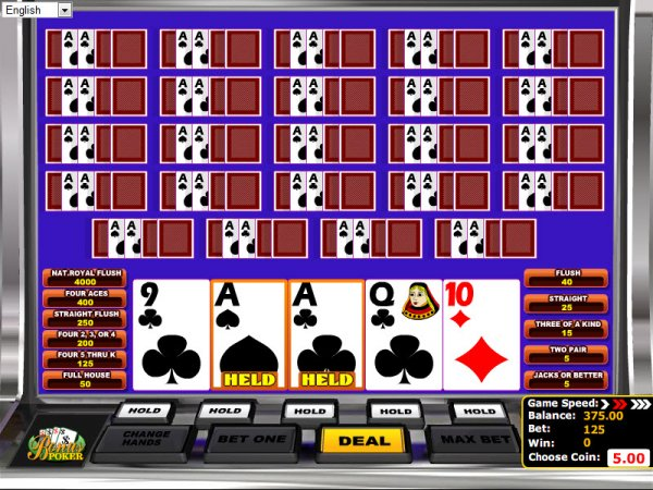 casino bet online poker 4 of a kind