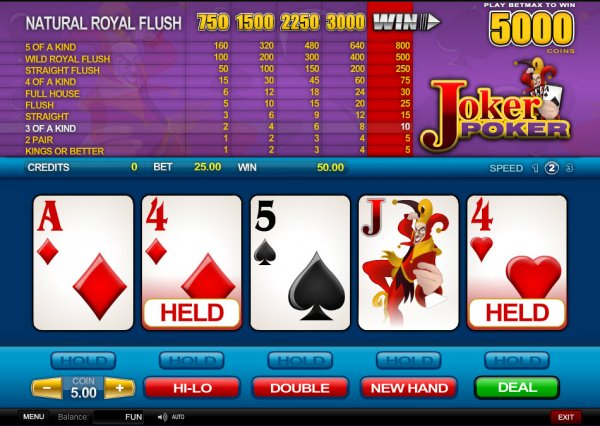 online casino best joker poker
