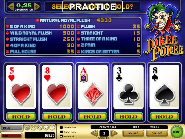 online casino play for fun joker poker