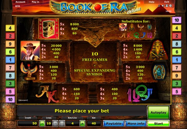 online casino reviews book of ra free play online