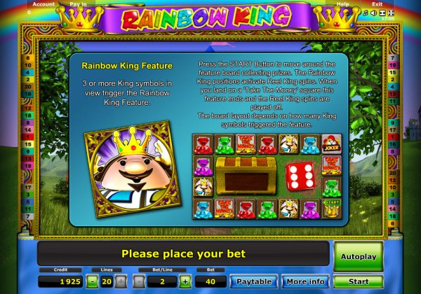 safe online casino rainbow king