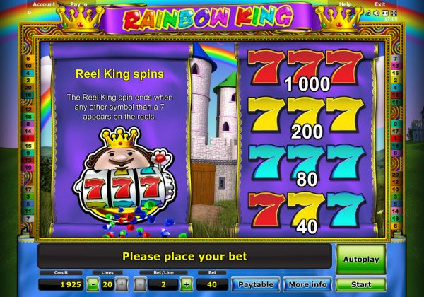 casino movie online rainbow king