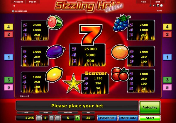 online casino ratings sizzling hot