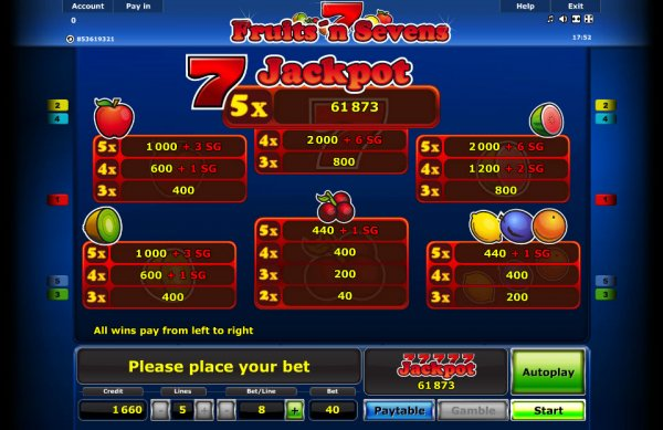 Fancy Fruits - 5 Reels - Play legal online slot games! OnlineCasino Deutschland