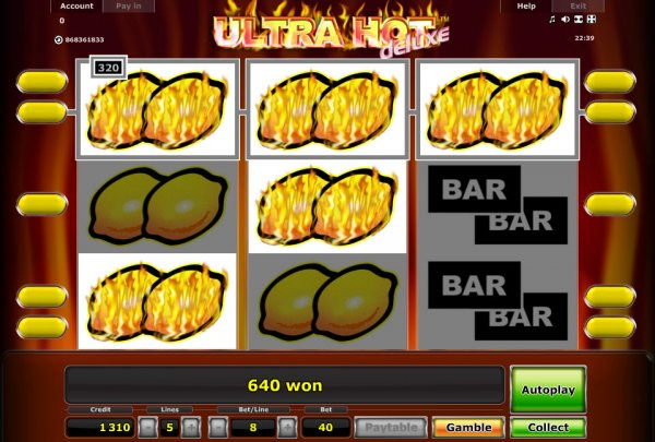 online casino jackpot ultra hot deluxe