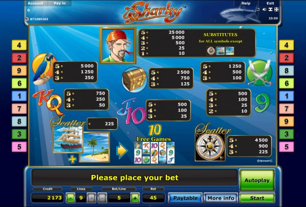 online casino click and buy sharky slot
