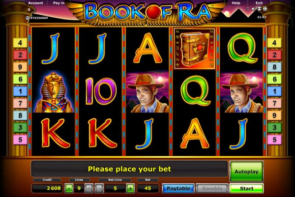 beste online casino slot games book of ra
