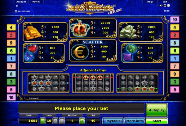 online casino list novomatic games