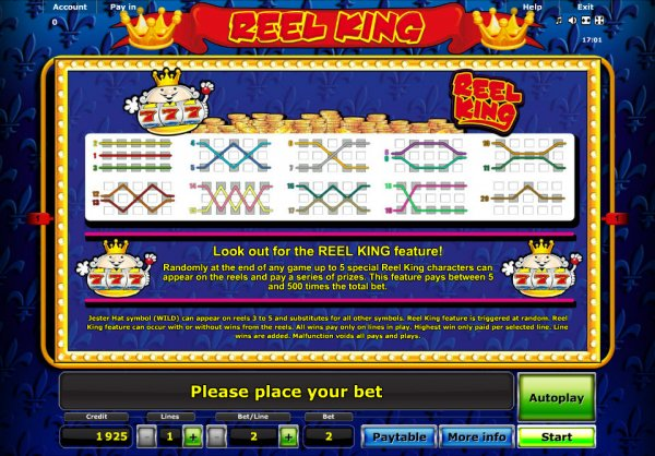online casino list reel king