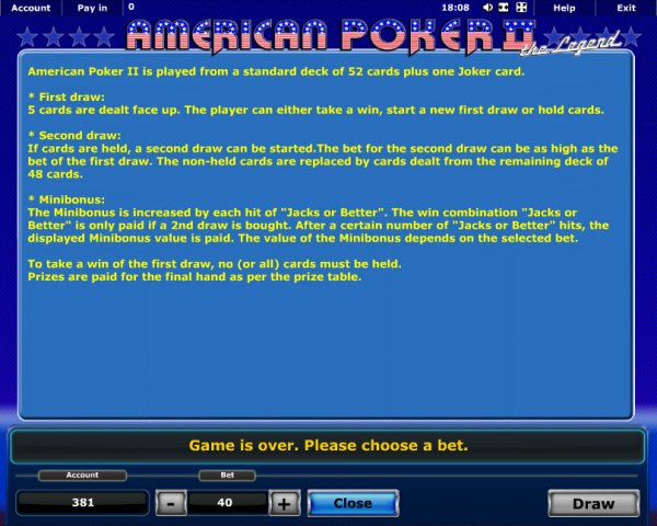 how to win online casino american poker ii