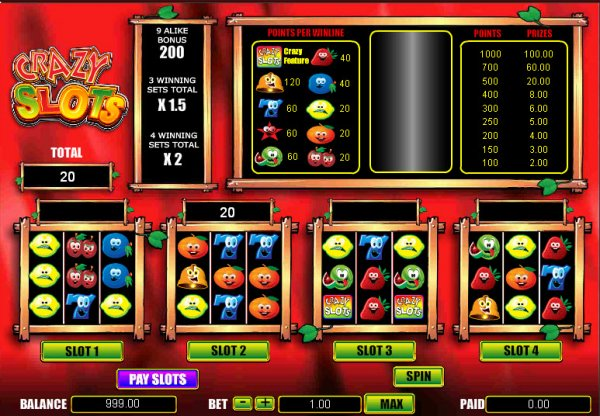 play online casino slots crazy slots