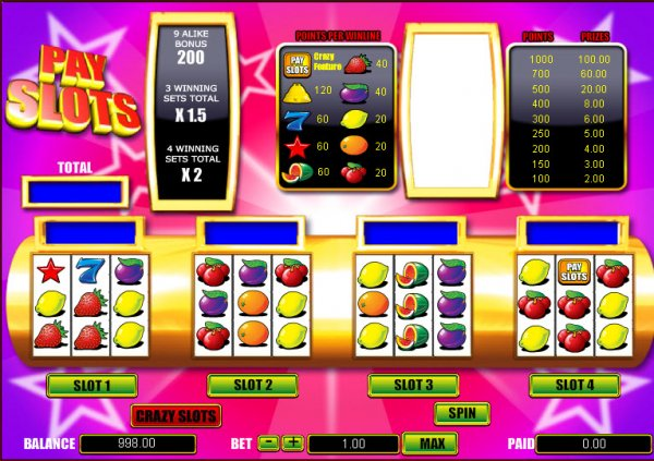 Crazy Slots Slot - Read a Review of this Mazooma Casino Game