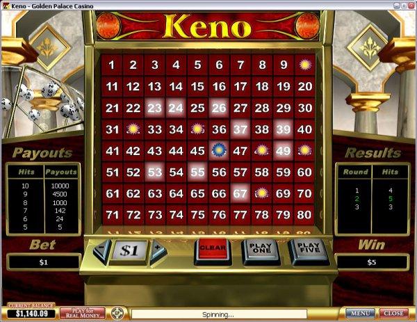 free keno slot