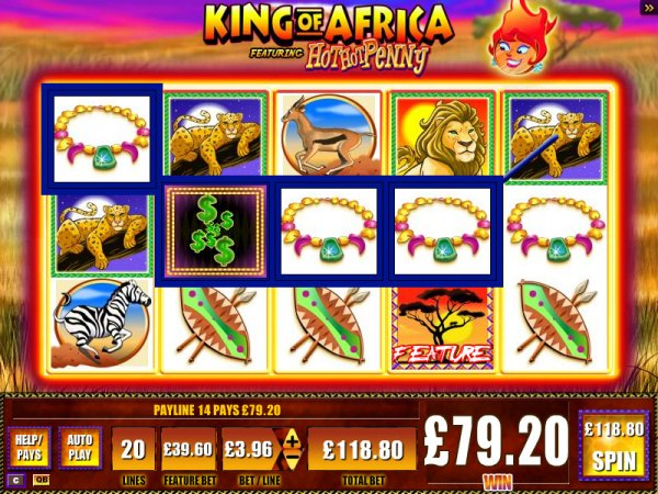 free hot penny slots king of africa online