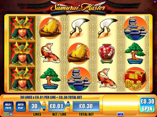 Samurai Master™ Slot Machine Game to Play Free in WMS Gamings Online Casinos