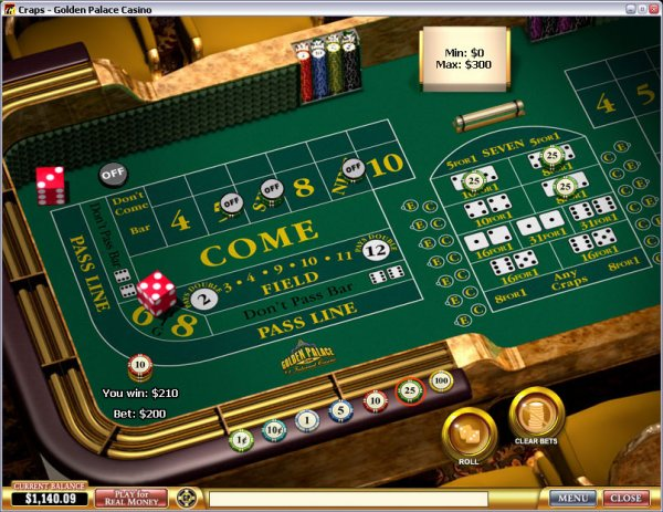 Playtech version of Craps
