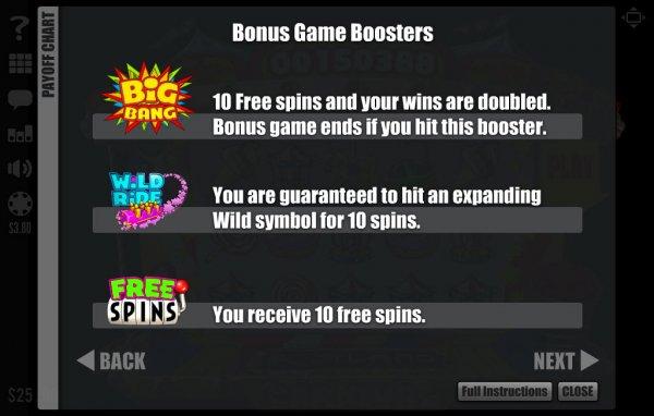 Bonus Boosters!