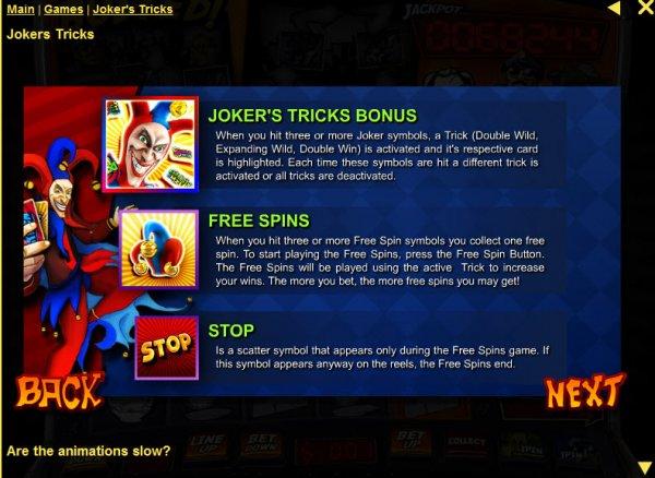 online casino trick joker online