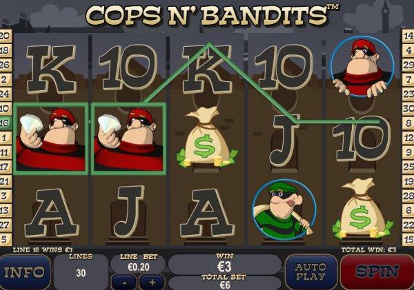 Play Cops n' Bandits Online Slots at Casino.com UK
