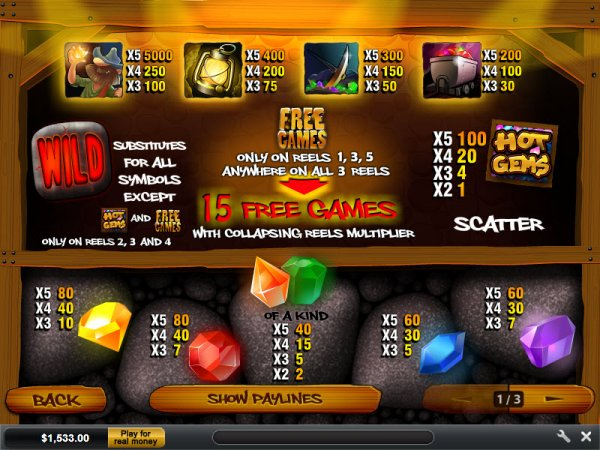 online casino table games sizlling hot