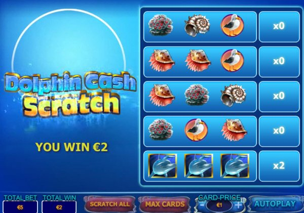 Play Dolphin Cash Scratch Cards at Casino.com