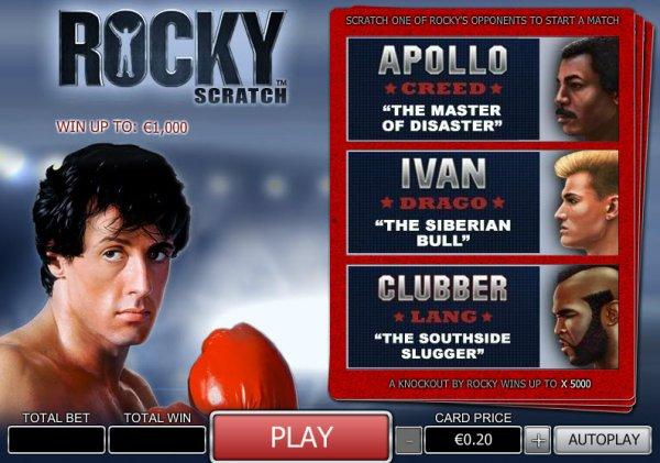 Play Rocky Scratch Online at Casino.com NZ