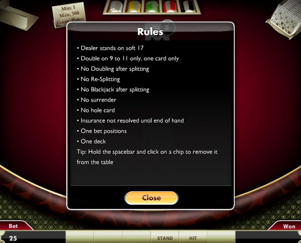 blackjack game online