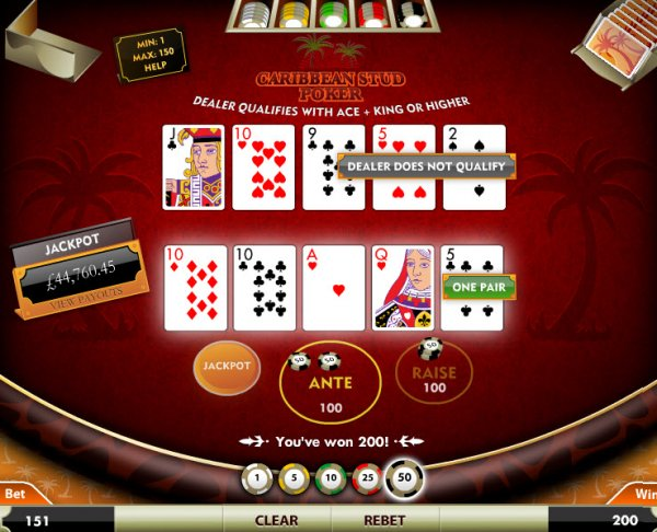 secure online casino caribbean stud