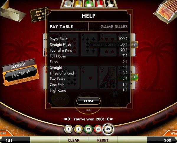 casino slots free online play caribbean stud