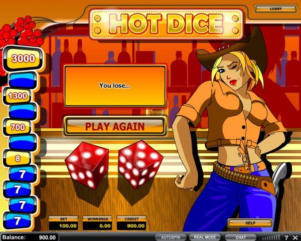 casino craps online sizzing hot