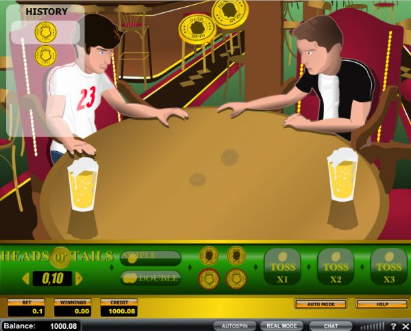 Play Heads or Tails Arcade Game at Casino.com UK
