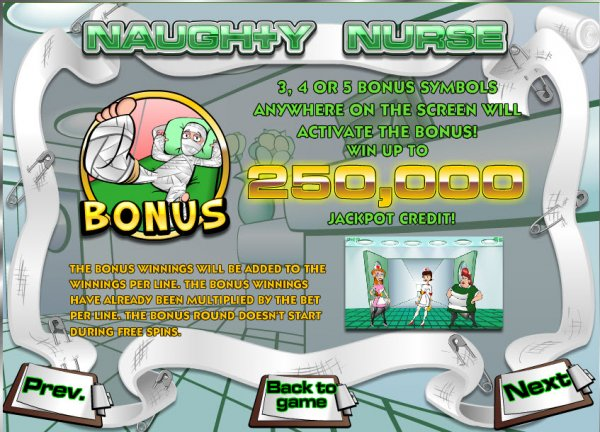Naughty Nurse™ Slot Machine Game to Play Free in iSoftBets Online Casinos