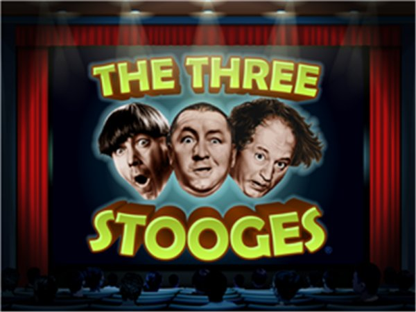 Three Stooges welcome screen and logo