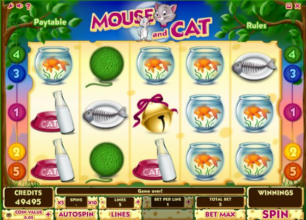 Slots cat and mouse