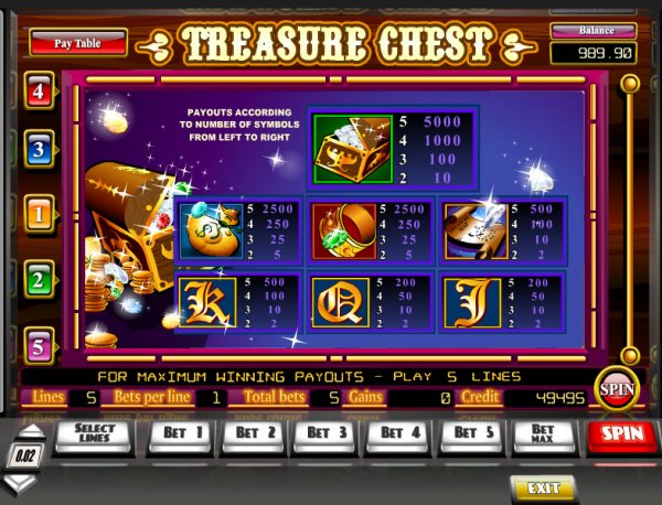 Free treasure chest slot machine poker run movie plot