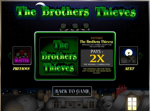 The Brothers Thieves Slot - Play for Free Online Today