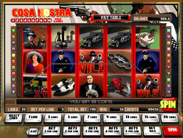 Cosa Nostra Slot - Play for Free Online with No Downloads