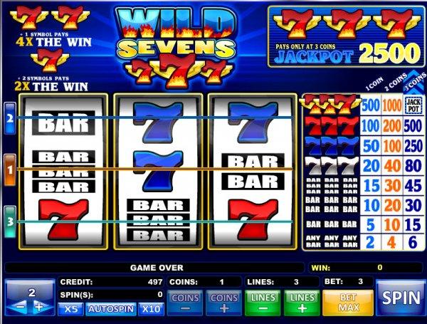 Wild red 7 slot