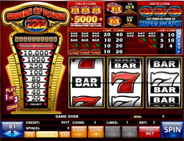 online casino list power star