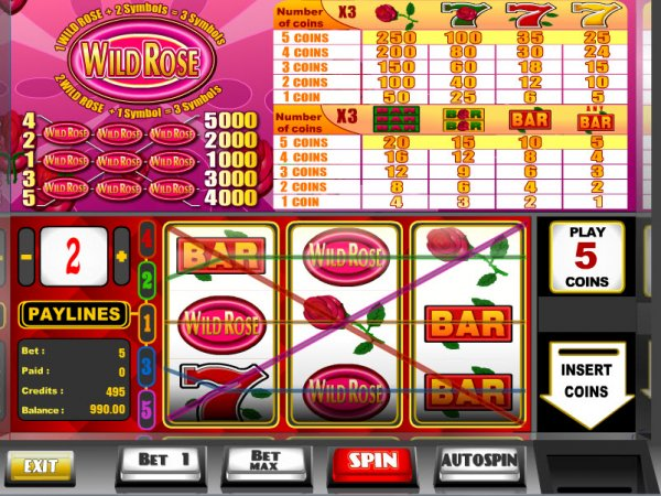 wild rose casino slots