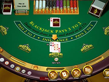 Snap shot of the Blackjack Surrender by Playtech