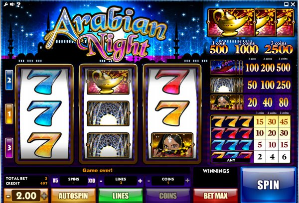 Arabian Night Slots - Now Available for Free Online