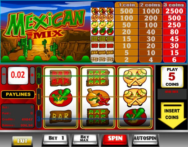 Mexican Mix Slots - Play Penny Slot Machines Online