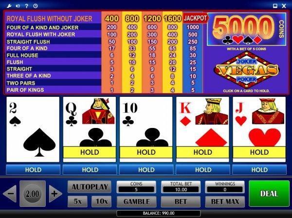 online casino usa joker poker
