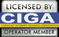 Official seal/logo for the gaming jurisdiction of Curacao